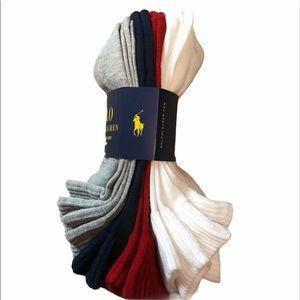 🆕 Polo Ralph Lauren Classic Sport Socks 6 …